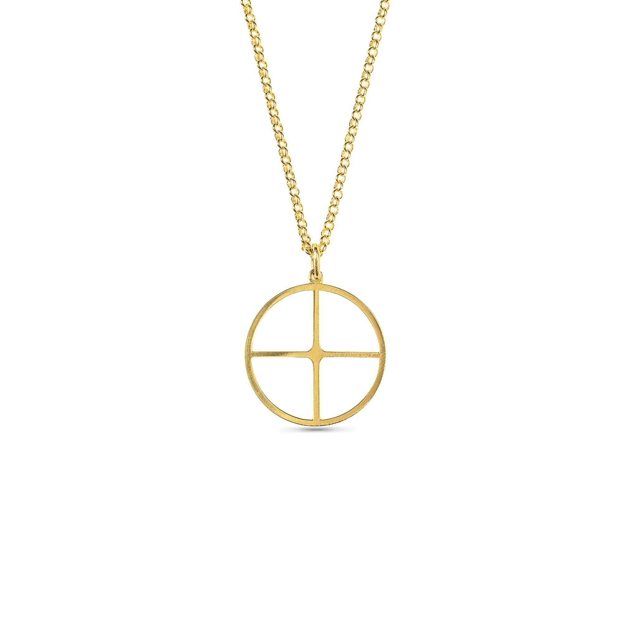 KESİŞEN YOLLAR KOLYE - CROSSROADS NECKLACE - 24 k Gold Plated Silver
