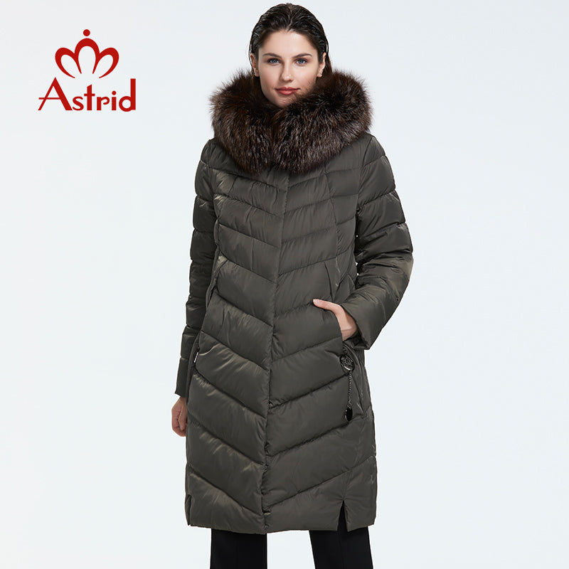 Astrid Winter new arrival down jacket with a fur collar