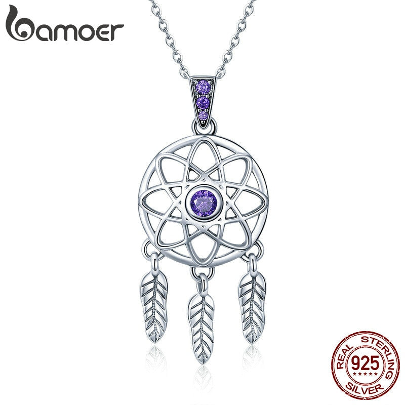 BAMOER Genuine 925 Sterling Silver Vintage Dream Catcher