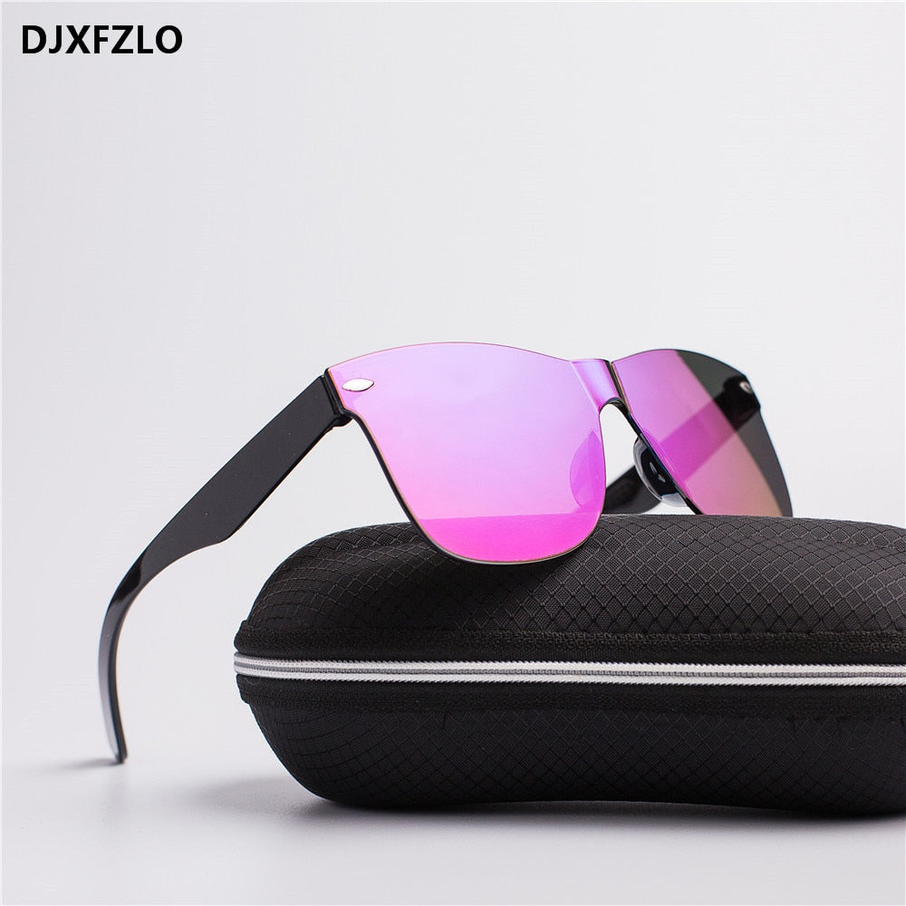 Retro Fashion Rimless Sun Glasses Women's Brand Eyewear UV400