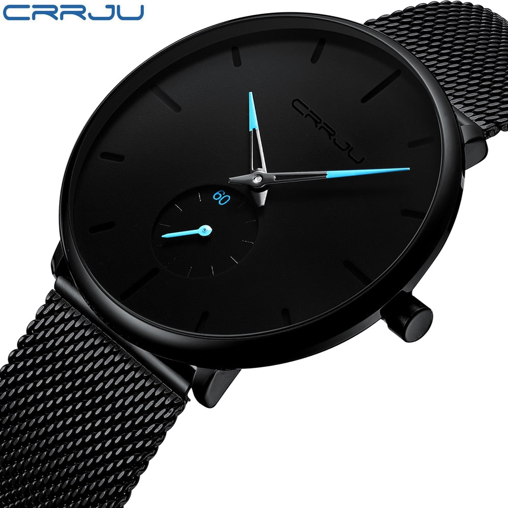Crrju Fashion Mens Watches Luxury Quartz Watch