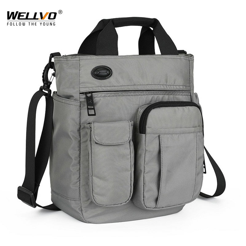 Multifunctional Shoulder Messenger Bag with Headphone Hole