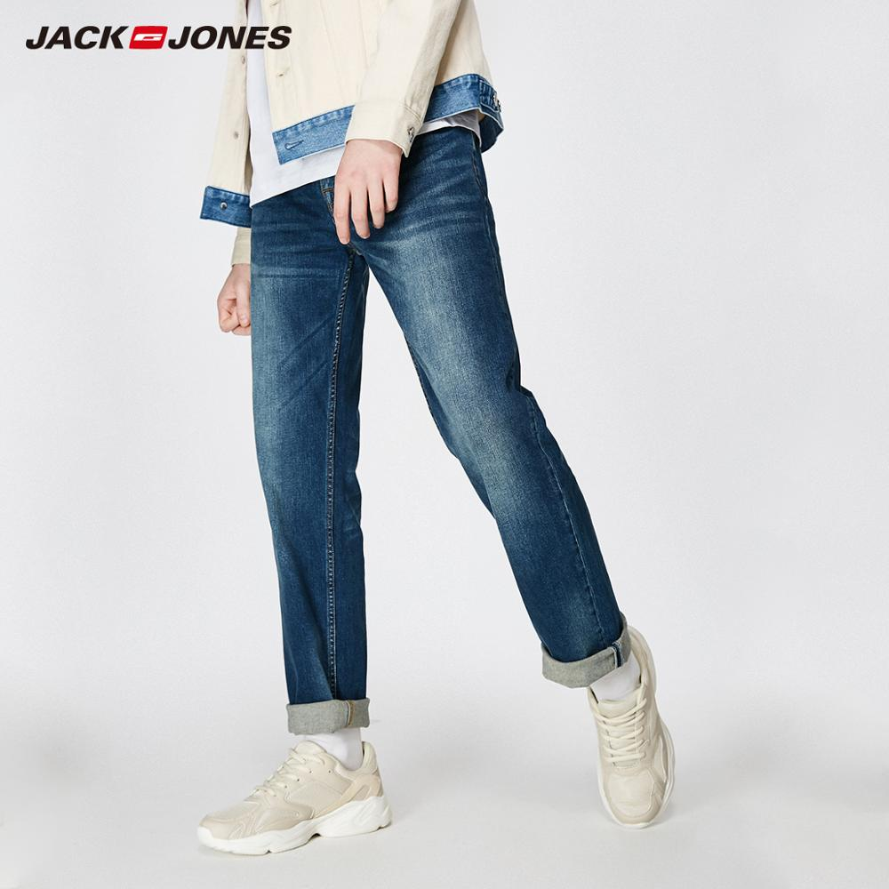 JackJones 2019 Spring New Men's Elastic Cotton Stretch Jeans Pants