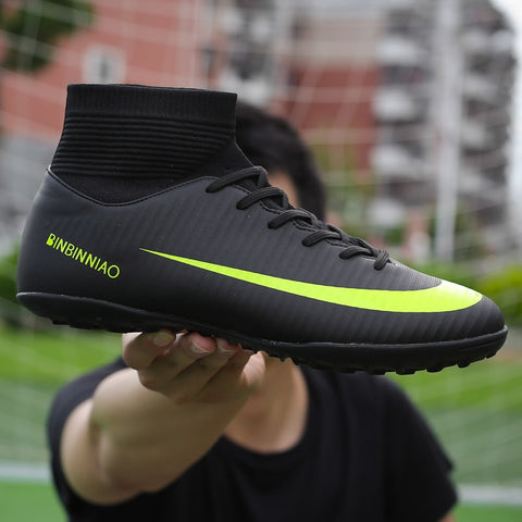 Men Football Boots Soccer Cleats Boots Long Spikes
