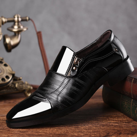 REETENE Fashion Business Dress Men Shoes 2019 New Classic Leather