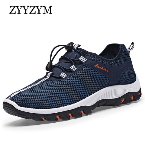 ZYYZYM Spring Summer Men Casual Shoes Mesh Ventilation Fashion Sneakers