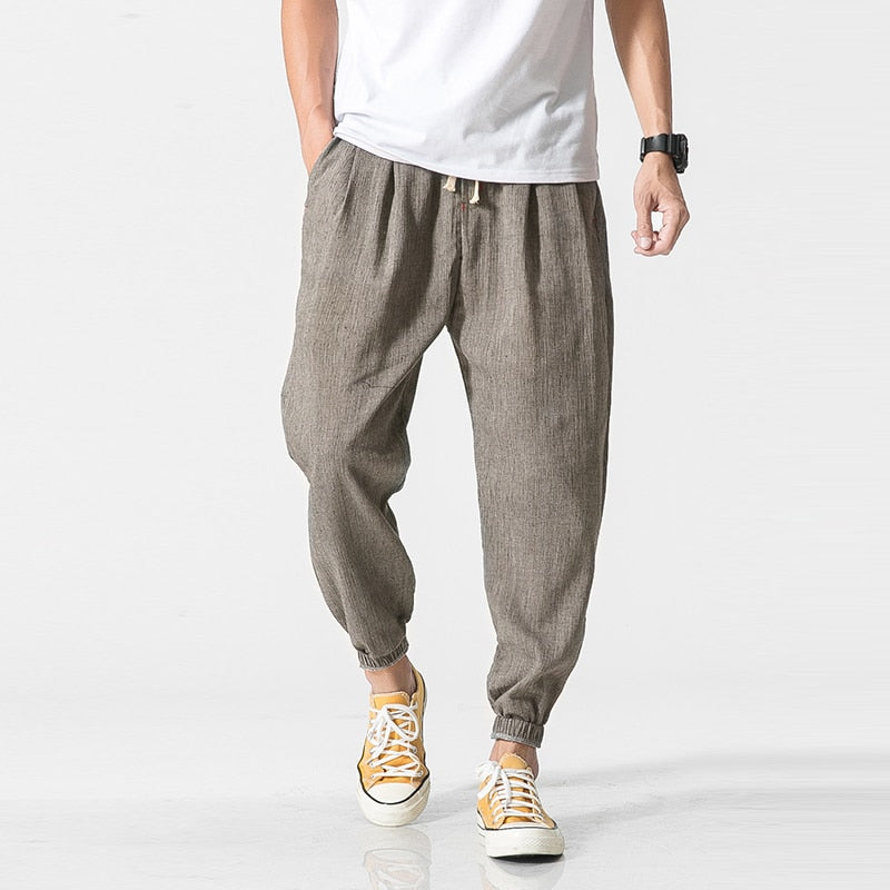 Privathinker Brand Casual Harem Pants Men