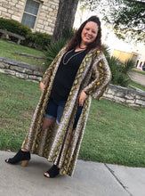 Load image into Gallery viewer, Snake Charmer duster (Goldenrod yellow)