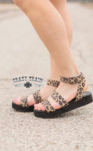 Load image into Gallery viewer, Leave it to leopard sandals