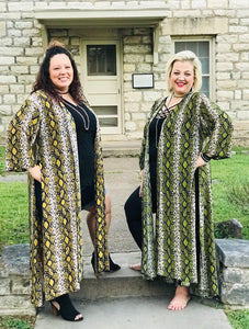 Snake Charmer duster (Goldenrod yellow)