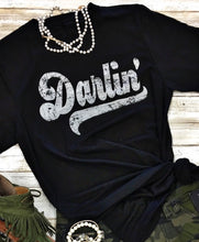 Load image into Gallery viewer, Darlin' Tee (BLACK/WHITE)