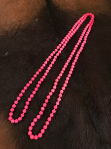 HOT PINK STONE NECKLACE (LONG)