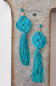 "TURQUOISE ""CATTYWAMPUS"" EARRINGS"