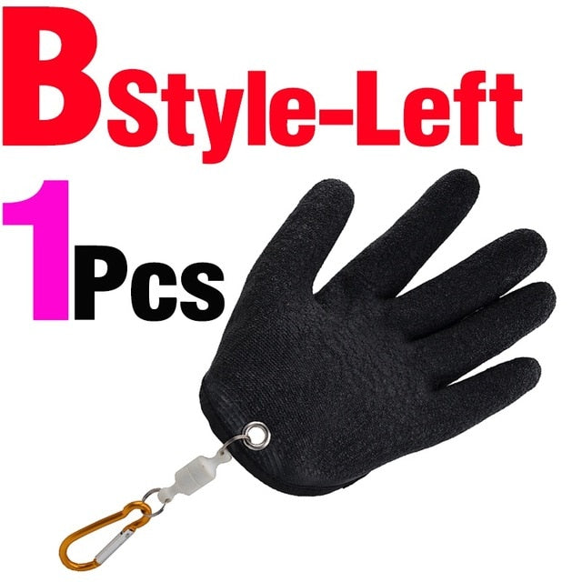 Fishing Gloves with Magnet Release