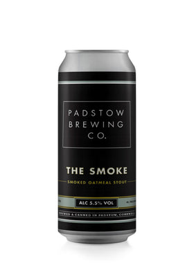 Padstow 'The Smoke' Oatmeal Stout, Padstow Brewing Co, Cornwall 440ml Can