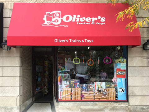 Oliver's Toys on Central Street in Evanston, IL