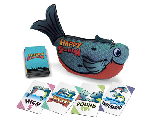Happy Salmon - Blue Fish