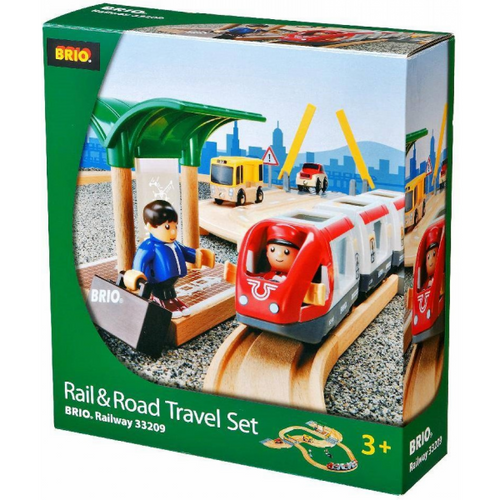 Brio Rail & Road Travel Set front of the box