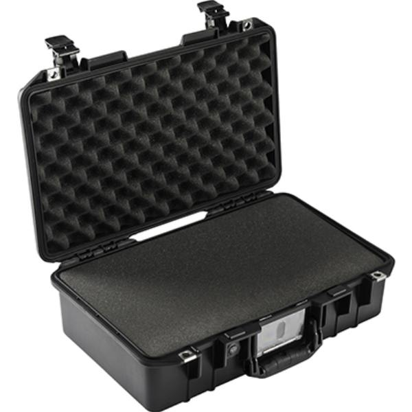 Pelican AIR 1485 Black with Pick & Pluck Foam with Internal dimensions of 45.1 x 25.9 x 15.6 cm. - www.bluesystem.com.au