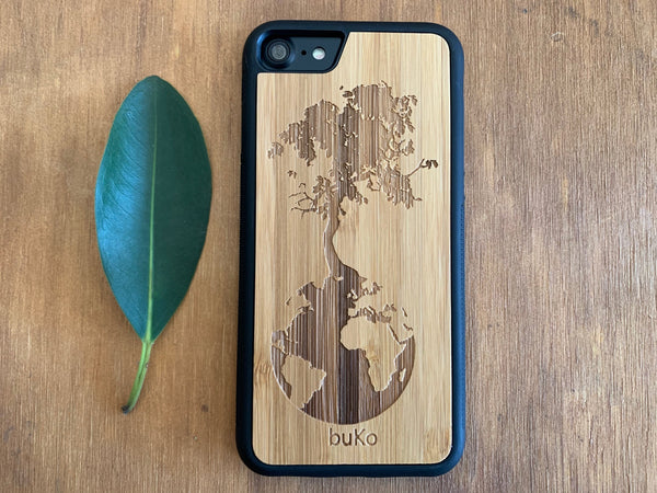 Wooden iPhone 8 and iPhone 8 PLUS Case with Down To Earth Engraving