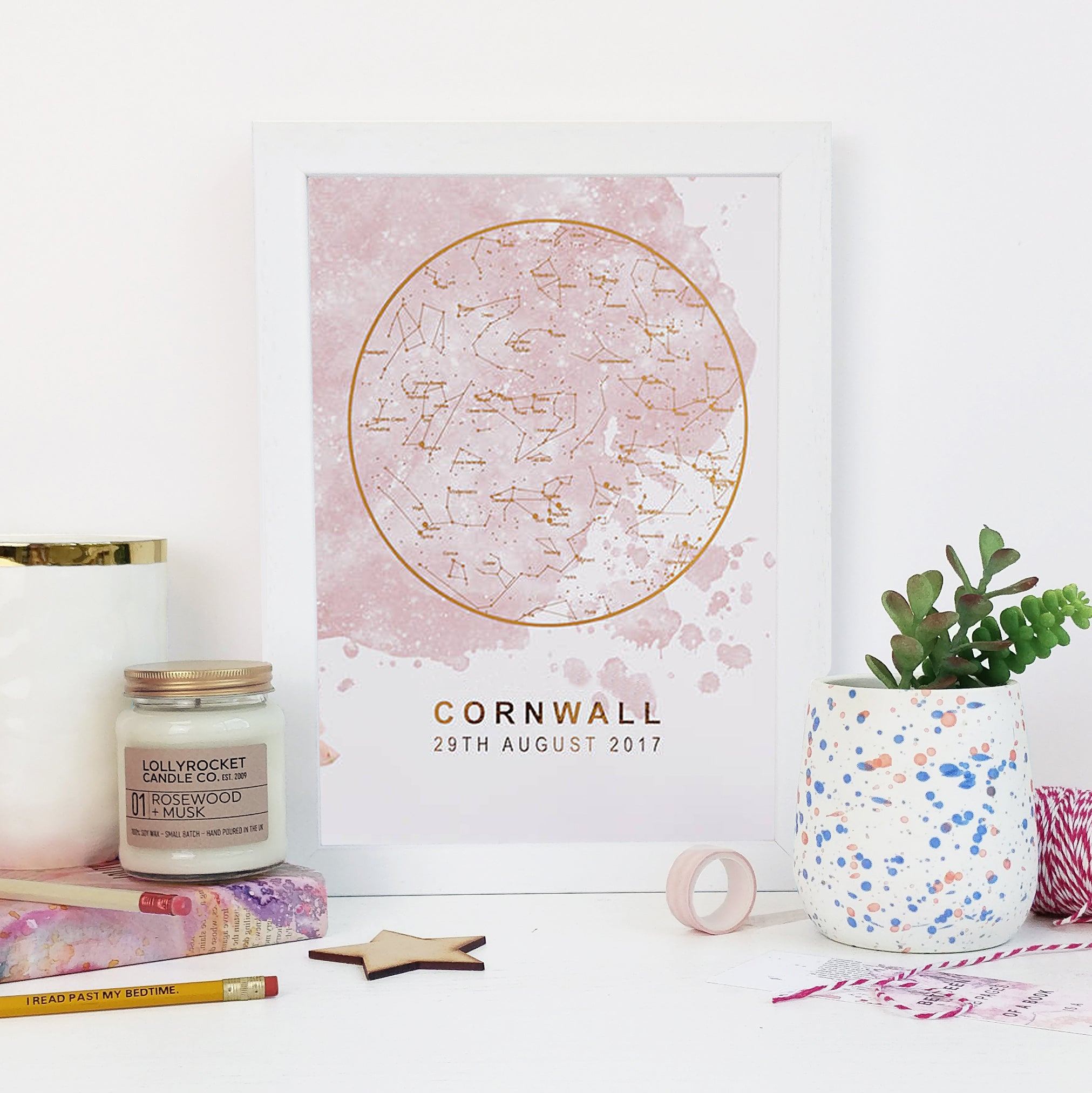 Baby Shower Gifts Personalised Foil Star Map Print Mapofthestars - How to read a star map
