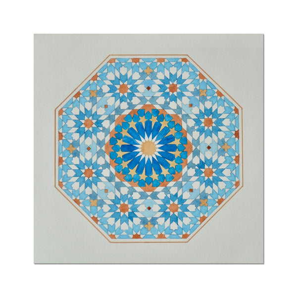 Blue Octagon Art Print | Marido Coulon
