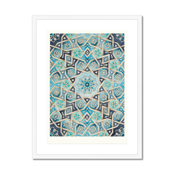 Baraka Blues Framed Print | Margi Lake