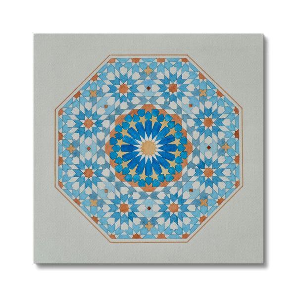 Blue Octagon Canvas| Marido Coulon