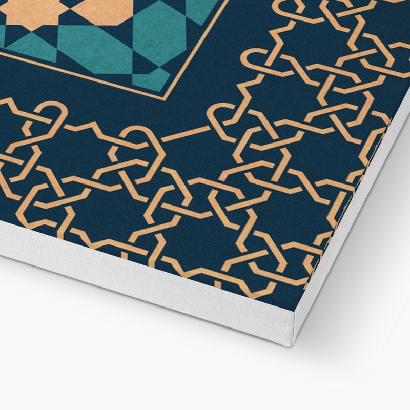 Blue and Gold Classic Zellige Canvas | Islam Farid