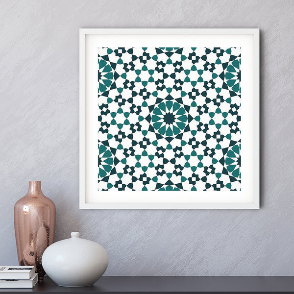 Twelve Sun and Birds Art Print | Islam Farid