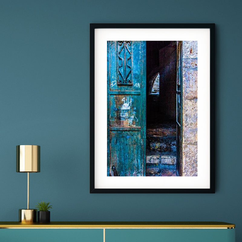 Blue Door Art Print | Sara Russell