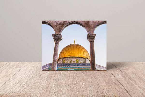 Dome of the Rock Fine Art Card | Sara Russell