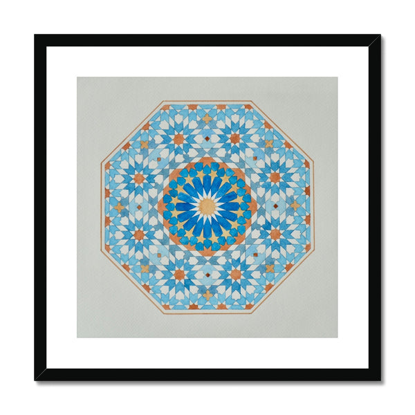 Blue Octagon Framed Print | Marido Coulon