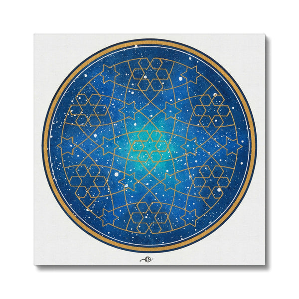 Geometry and the night sky Canvas | Lieve Oudejans