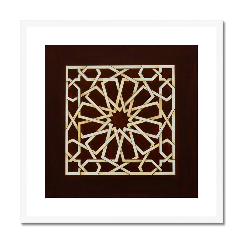Square of Chocolate Framed Print | Marido Coulon