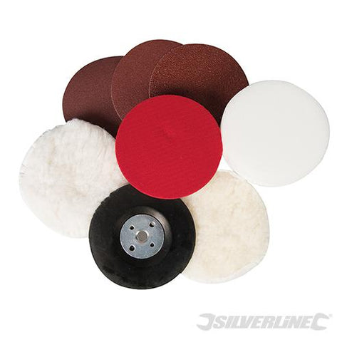 Silverline Sanding & Polishing Kit 8pce 115mm