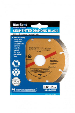 "BlueSpot (4.5"") Diamond Dry Cutting Disc"