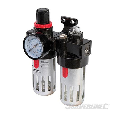 Silverline Air Filter Regulator & Lubricator