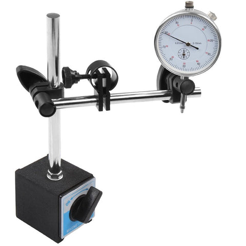 Bergen DTI Stand With Magnetic Base and Analogue Metric Gauge