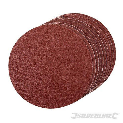 Silverline Self-Adhesive Sanding Discs 150mm 10pk 120 Grit