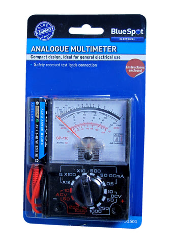 Blue Spot Analogue Multimeter
