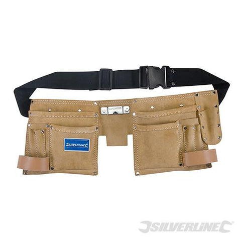 Silverline Double Pouch Tool Belt 11 Pocket