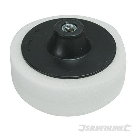 Silverline M14 Foam Polishing Head 150mm Firm White