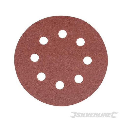 Silverline Hook & Loop Discs Punched 115mm 10pk 40 grit