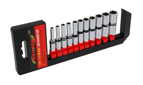 "Neilsen CT1602 11pc 1/4"" Dr SAE Deep Socket Set"