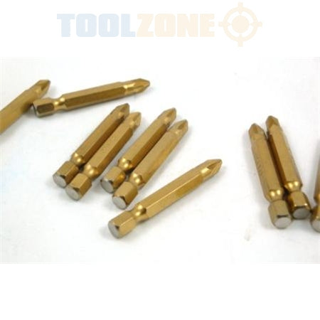 Toolzone 10pc Pozi 2 S2 50mm Power Bits