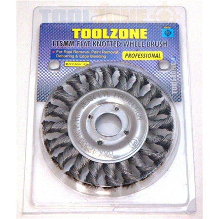 Toolzone 22.2mm Bore Prof Flat Wire Wheel