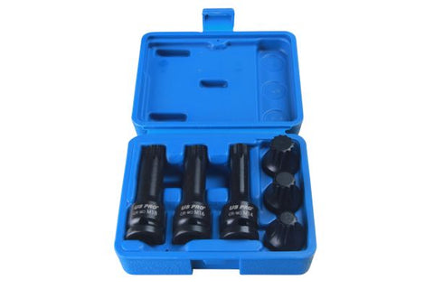"US PRO 6 Piece 1/2"" Drive Spline Impact Socket Bits Set"