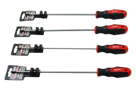 US-PRO 6PC Extra Long Tamper Proof Torx Screwdrivers