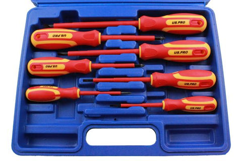 US Pro 7pc Insulated Electricians Screwdriver Set
